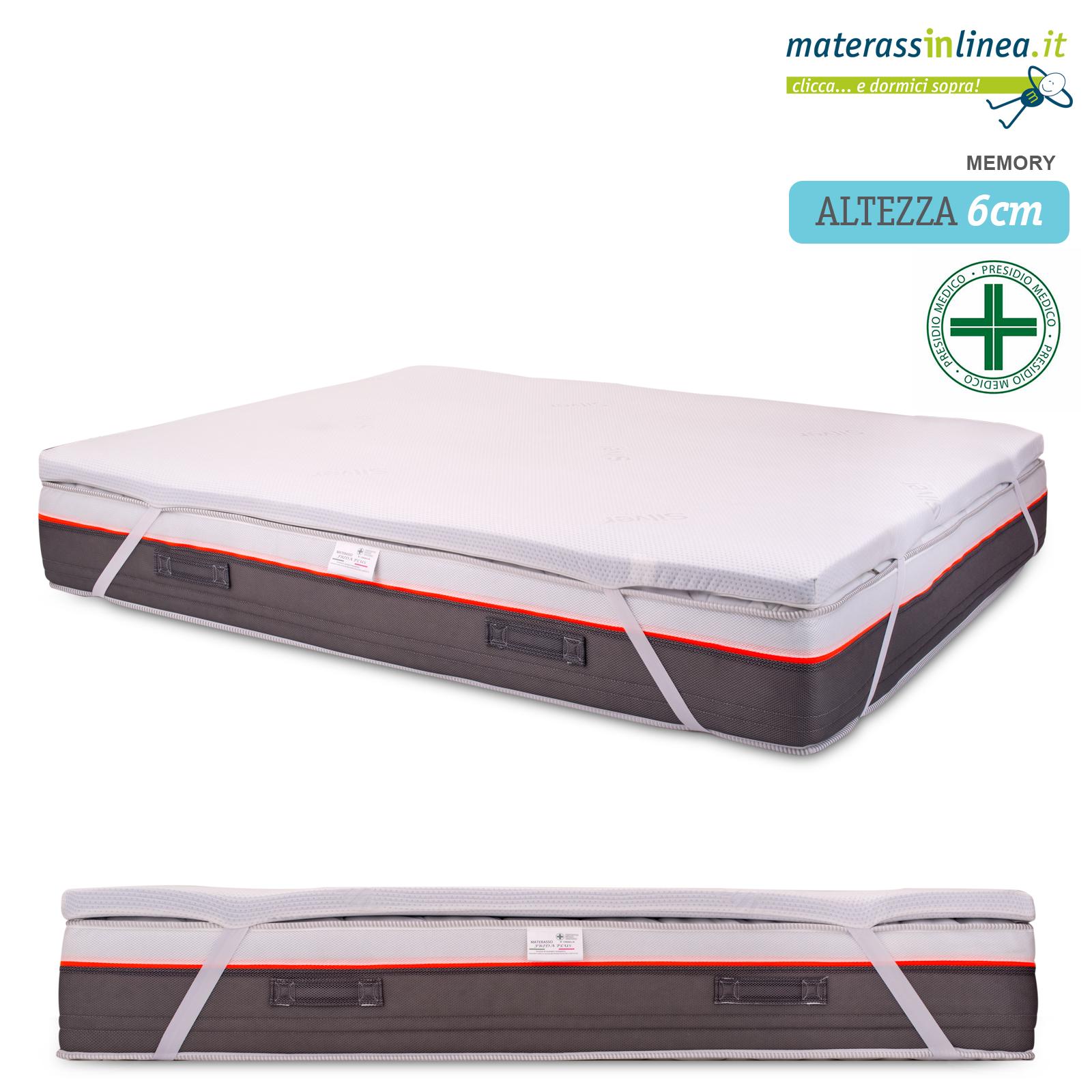 Materasso Memory Con Gel.Dettagli Su Topper Memory Gel Breeze 6cm Per Materasso Singolo 100 Made In Italy